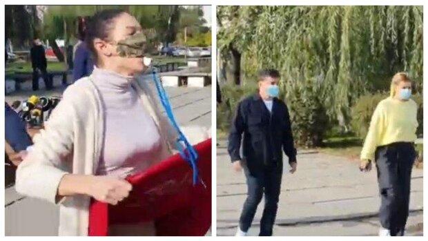 """На Зеленского с женой бросилась девушка без трусов, появились кадры: """"Покажите еще!"""""""