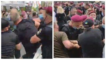 """Украинцы сцепились с полицией в центре Киева, кадры жесткого противостояния: """"Ганьба!"""""""