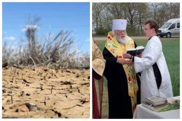 Посуха на Одещині: священики вирішили боротися з природним лихом, відео