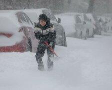 морозы, снег, США