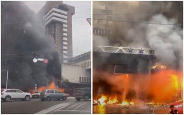 Мощный пожар вспыхнул в центре Киева, прибыли спасатели: первые подробности и кадры с места ЧП