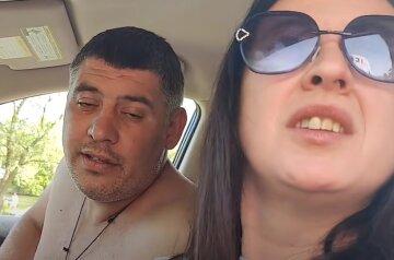 Жена полицейского села за руль пьяной, а после набросилась на прохожего: видео беспредела