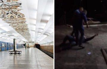 """У Києві біля метро жорстоко б'ють людей і знімають це на камеру: """"гроші і речі не цікавлять"""""""