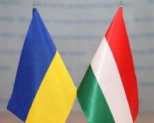 Украина, Венгрия, флаги