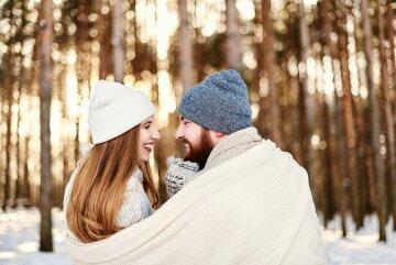 гороскоп на январь, зима, любовь, пара, прогулка