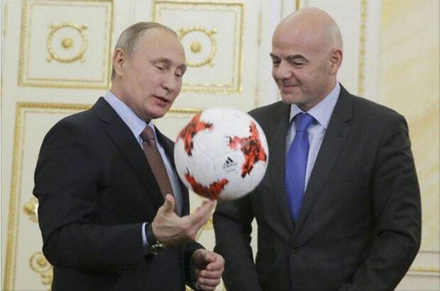 Путин Инфантино ФИФА