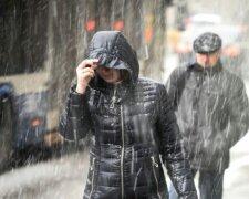 Дождь, зима, холод
