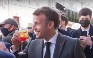 """""""Будьмо!"""": президент Франции Макрон поднял бокал за Украину во время торжества, видео"""