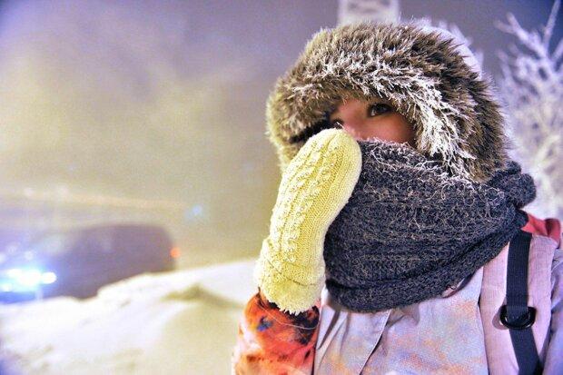 Холод зима мороз снег
