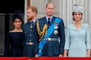 кейт миддлтон, принц гарри, принц уильям, меган маркл