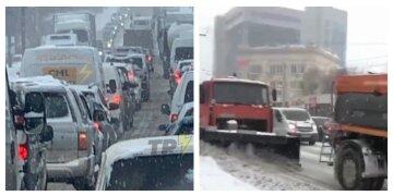 Харківщину засипало снігом, заставши зненацька комунальників: місто стоїть у заторах, кадри стихії