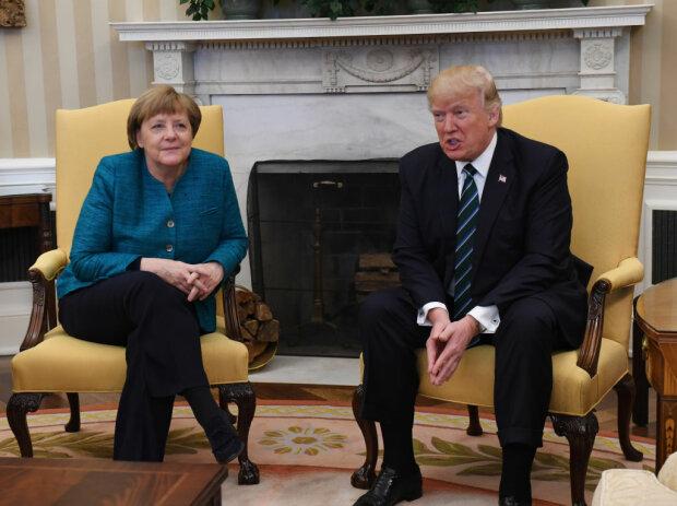 German Chancellor Angela Merkel and President Donald Trump Meet in Washington