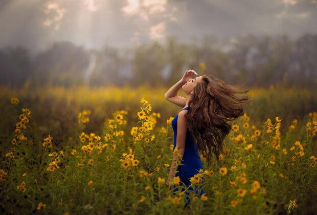 весна, счастье, радость, женщина, лето