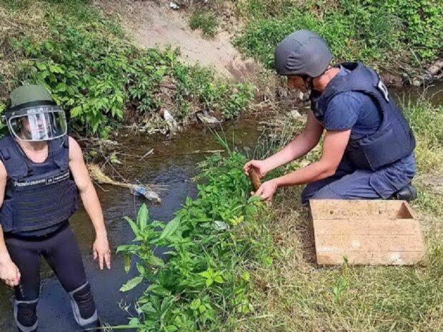 """Вибухонебезпечну знахідку виявив відпочивальник у Дніпрі, відео: """"знешкодити не вдалося..."""""""