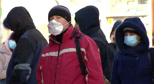 карантин, вулиця, маски, україна