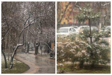 """Март разбушевался: в сети показали кадры неожиданного снежного """"сюрприза"""" в Одессе"""