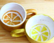 чашка, лимон