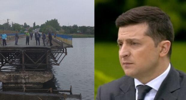 """Мост с фурой обрушился на Днепропетровщине, фото: """"пока Зеленский обещал миллиарды"""""""