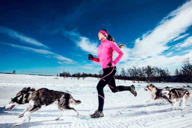 бег, зима, тренировки