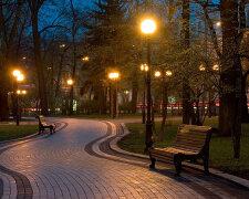 парк киев лето ночь