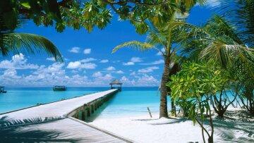 рай, пляж, море