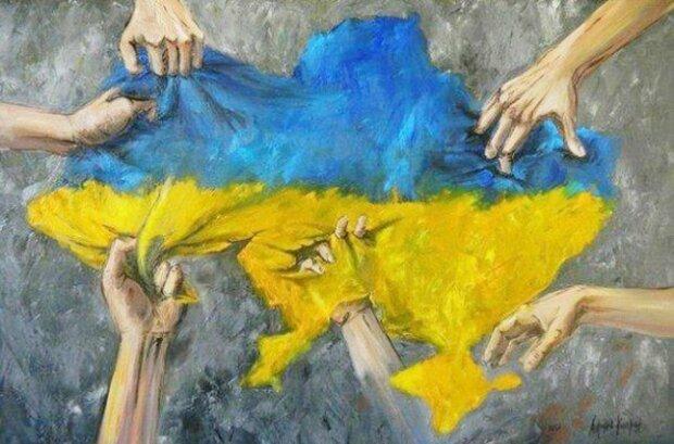 карта украины, раскол украины