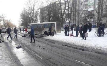 Легковик влетів в автобус на Львівщині, швидкі забирають постраждалих: кадри страшної ДТП
