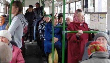 пенсионеры, автобус, пассажиры
