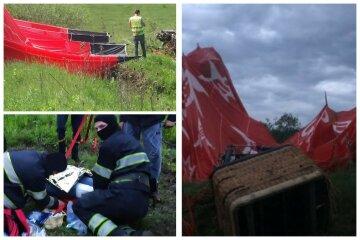 """Трагедия с воздушным шаром на Хмельнитчине: выживший вспомнил о пережитом, """"упал на огороде"""""""