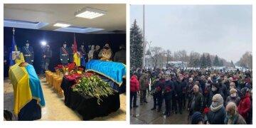 Попрощатися з українськими Героями з'їхалися з усієї України: люди стоять на колінах, кадри