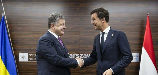 президент Украины Петр Порошенко и премьер Нидерландов Марк Рютте