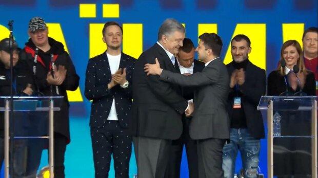 Зеленский и Порошенко стали одним целым: удивительные фото