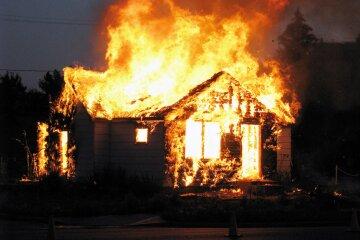 пожар, дом,
