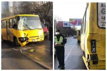 Две маршрутки с людьми попали в аварию, движение затруднено: кадры ДТП из Одессы