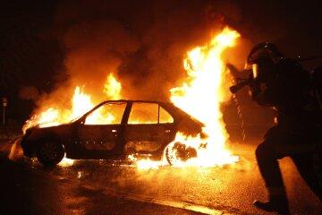 пожар, авто
