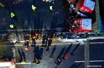 Беспрецедентное  ДТП в Китае: столкнулись 56 автомобилей (фото)