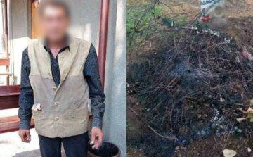 Українець спалив десятки вінків заради легких грошей, кадри: дріт здавав на металобрухт