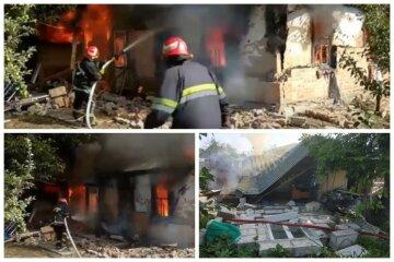 Газовий балон вибухнув у житловому будинку, впав дах і стіна: відео трагічної НП