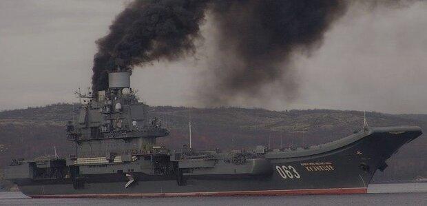 Адмирал Кузнецов. пожар