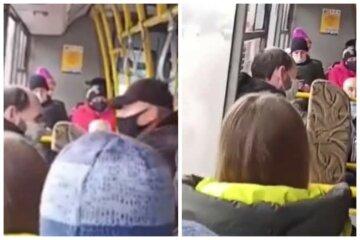 """Не було вільних місць: люди вигнали """"зайвого"""" пасажира з маршрутки, відео"""
