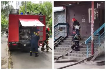 Телевизор привел к взрыву в одесской квартире, начался пожар: видео ЧП