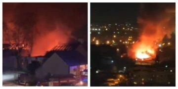 Выгорело 1 000 кв.м: борьба с пожаром под Харьковом затянулась на девять часов, кадры ЧП