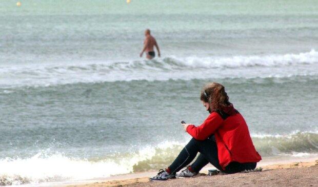 пляж, море, весна, одесити