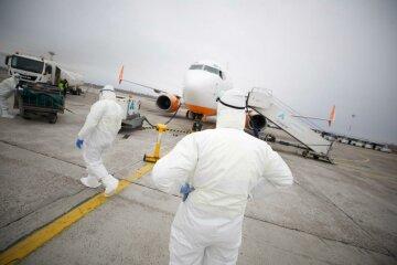 самолет, эвакуация, коронавирус