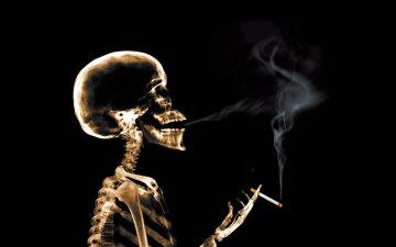 курение, скелет