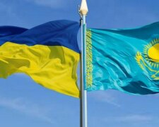 флаги, украина, казахстан