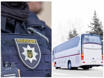 Поліція наздоганяла автобус, фото: колаж Politeka