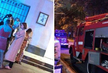 В Киеве загорелось общежитие: более сотни студентов оказались на улице, фото