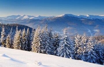 гора зима