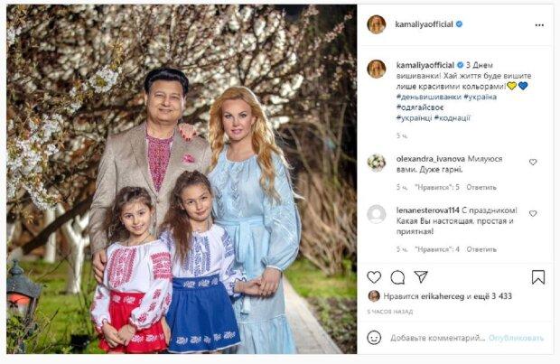 """Самая богатая певица Украины, нарядив мужа-миллиардера в вышиванку, сделала обращение: """"Пусть жизнь будет..."""""""